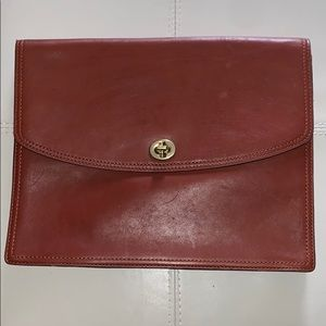 Coach Brown Leather Clutch Vintage